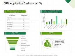 CRM Application Dashboard Chart Client Relationship Management Ppt Icon