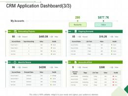 CRM Application Dashboard Projects Client Relationship Management Ppt Layouts