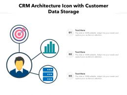 CRM Architecture Icon With Customer Data Storage