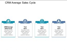 CRM Average Sales Cycle Ppt Powerpoint Presentation Summary Mockup Cpb