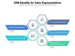 CRM Benefits For Sales Representatives