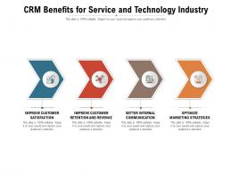 CRM Benefits For Service And Technology Industry