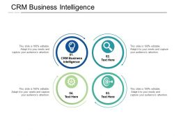 CRM Business Intelligence Ppt Powerpoint Presentation Ideas Inspiration Cpb