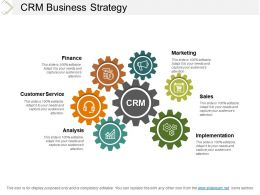 Crm Business Strategy Ppt Slides Download