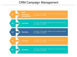 CRM Campaign Management Ppt Powerpoint Presentation Ideas Template Cpb