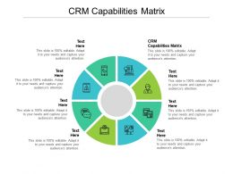 CRM Capabilities Matrix Ppt Powerpoint Presentation Infographic Template Tips Cpb