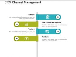 CRM Channel Management Ppt Powerpoint Presentation Show Graphics Cpb