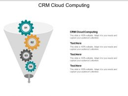 CRM Cloud Computing Ppt Powerpoint Presentation Professional Aids Cpb