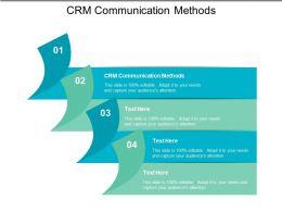 CRM Communication Methods Ppt Powerpoint Presentation File Samples Cpb