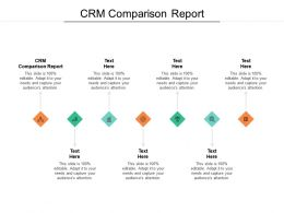 CRM Comparison Report Ppt Powerpoint Presentation Portfolio Icon Cpb