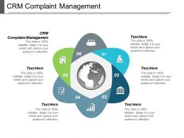 Crm Complaint Management Ppt Powerpoint Presentation Layouts Example Cpb