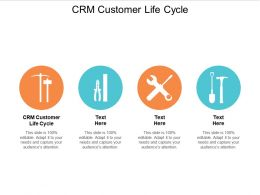 CRM Customer Life Cycle Ppt Powerpoint Presentation Gallery Topics Cpb