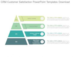 Crm Customer Satisfaction Powerpoint Templates Download