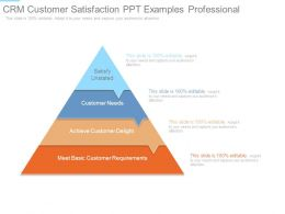 Crm Customer Satisfaction Ppt Examples Professional