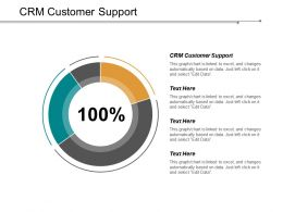 CRM Customer Support Ppt Powerpoint Presentation Infographic Template Vector Cpb