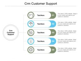 CRM Customer Support Ppt Powerpoint Presentation Show Summary Cpb