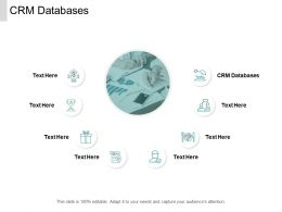 CRM Databases Ppt Powerpoint Presentation Gallery Graphics Design Cpb