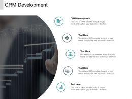 CRM Development Ppt Powerpoint Presentation Model Slide Cpb