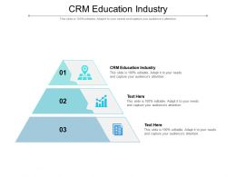 CRM Education Industry Ppt Powerpoint Presentation Layouts Outfit Cpb