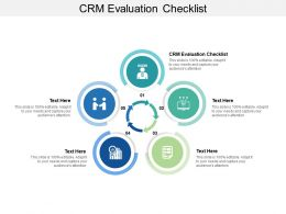CRM Evaluation Checklist Ppt Powerpoint Presentation Visual Aids Deck Cpb