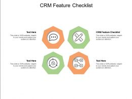 CRM Feature Checklist Ppt Powerpoint Presentation File Diagrams Cpb