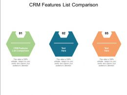 CRM Features List Comparison Ppt Powerpoint Presentation Infographic Template Diagrams Cpb