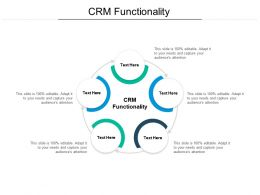 CRM Functionality Ppt Powerpoint Presentation Pictures Vector Cpb