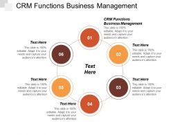 Crm Functions Business Management Ppt Powerpoint Presentation File Example Topics Cpb
