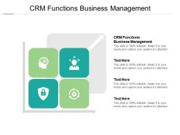 CRM Functions Business Management Ppt Powerpoint Presentation Summary Cpb