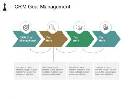 Crm Goal Management Ppt Powerpoint Presentation Model Ideas Cpb