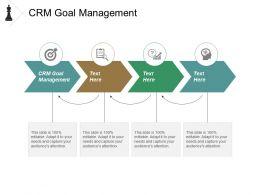Crm Goal Management Ppt Powerpoint Presentation Model Ideas Cpb