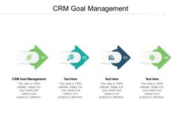 CRM Goal Management Ppt Powerpoint Presentation Styles Format Cpb