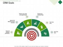CRM Goals Client Relationship Management Ppt Icon Graphic Images