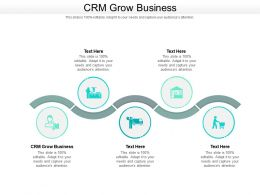 CRM Grow Business Ppt Powerpoint Presentation Icon Example Cpb