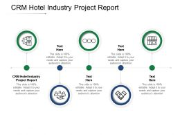 CRM Hotel Industry Project Report Ppt Powerpoint Presentation Icon Shapes Cpb