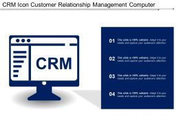Crm Icon Customer Relationship Management Computer