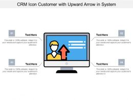 Crm Icon Customer With Upward Arrow In System