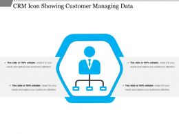 Crm Icon Showing Customer Managing Data