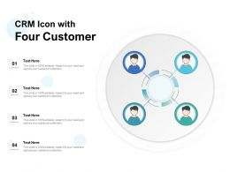 CRM Icon With Four Customer