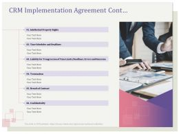 CRM Implementation Agreement Cont Rights Ppt File Topics