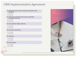 CRM Implementation Agreement Contribution Ppt Clipart