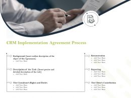 CRM Implementation Agreement Process Ppt Powerpoint Presentation Icon Show