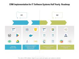 CRM Implementation For IT Software Systems Half Yearly Roadmap