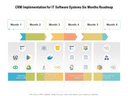 CRM Implementation For IT Software Systems Six Months Roadmap