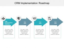 CRM Implementation Roadmap Ppt Powerpoint Presentation Pictures Objects Cpb