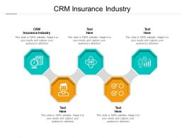 CRM Insurance Industry Ppt Powerpoint Presentation Outline Pictures Cpb