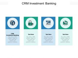 CRM Investment Banking Ppt Powerpoint Presentation Show Introduction Cpb