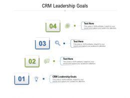 CRM Leadership Goals Ppt Powerpoint Presentation Portfolio Ideas Cpb