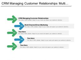 Crm Managing Customer Relationships Multi Channel Direct Marketing Cpb