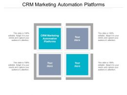 CRM Marketing Automation Platforms Ppt Powerpoint Presentation File Slideshow Cpb
